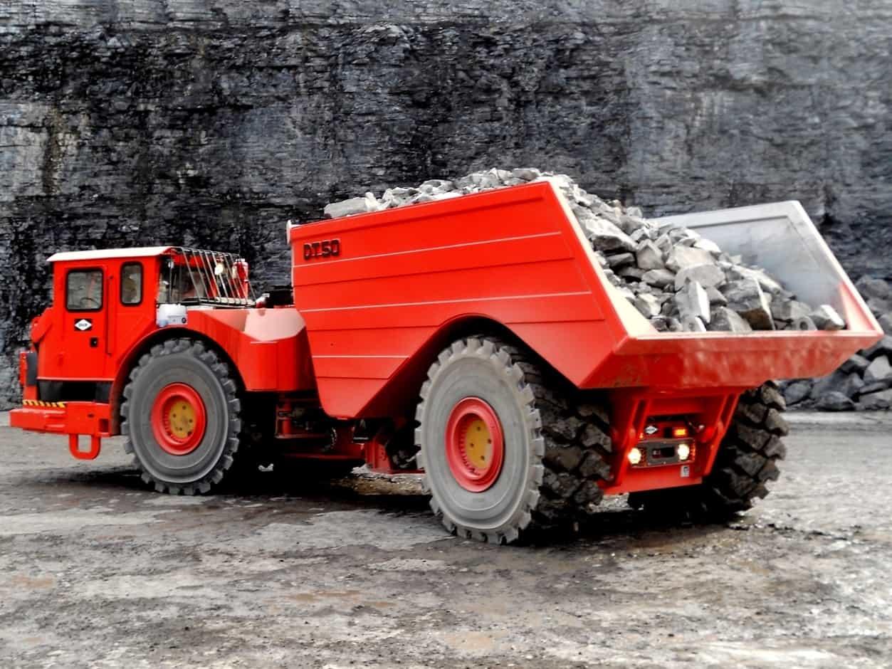 Chassis pour camions de mine