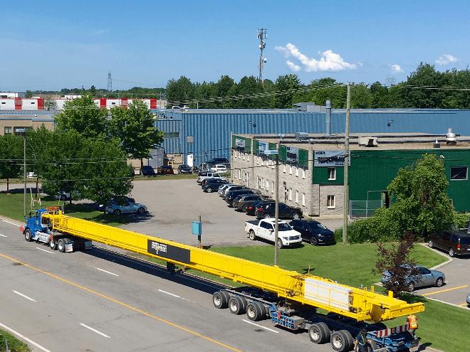 Fabrication de ponts roulants, AMT - Centre d'entretien Pointe St-Charles