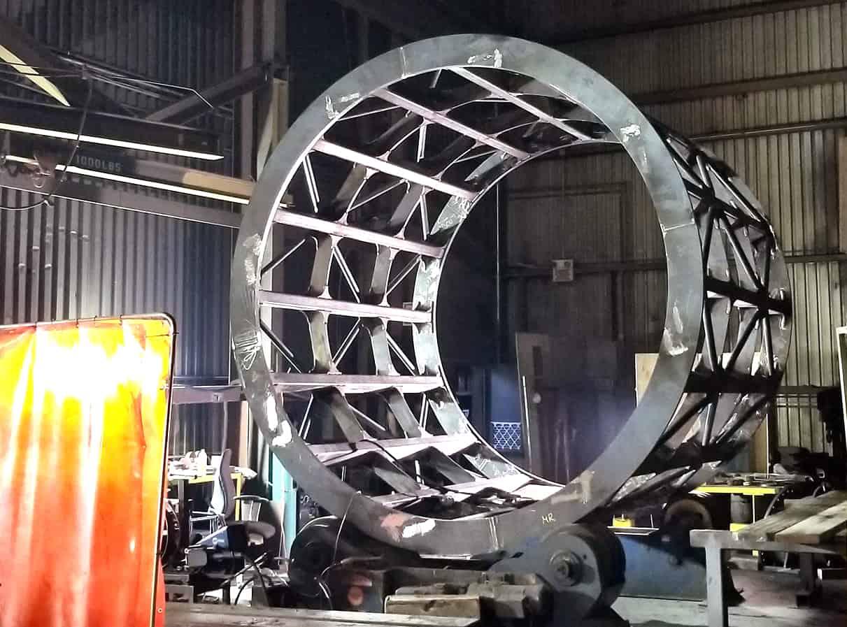 Trommel Sag Mill: bâti en acier